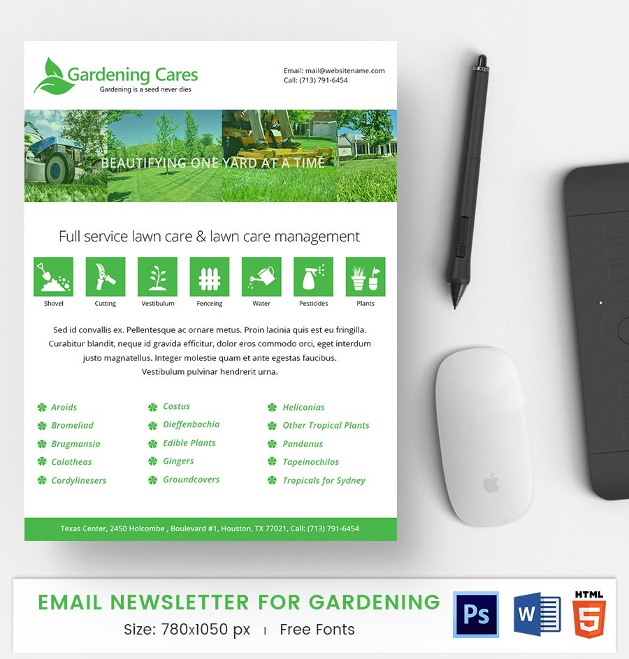 Gardening E-Mail Newsletter