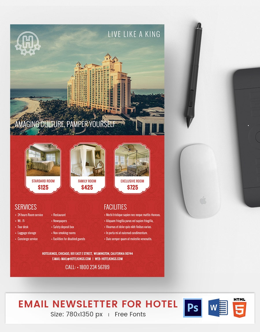 hotel e mail newsletter
