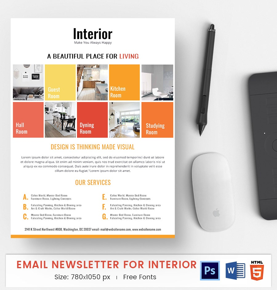 interior e mail newsletter
