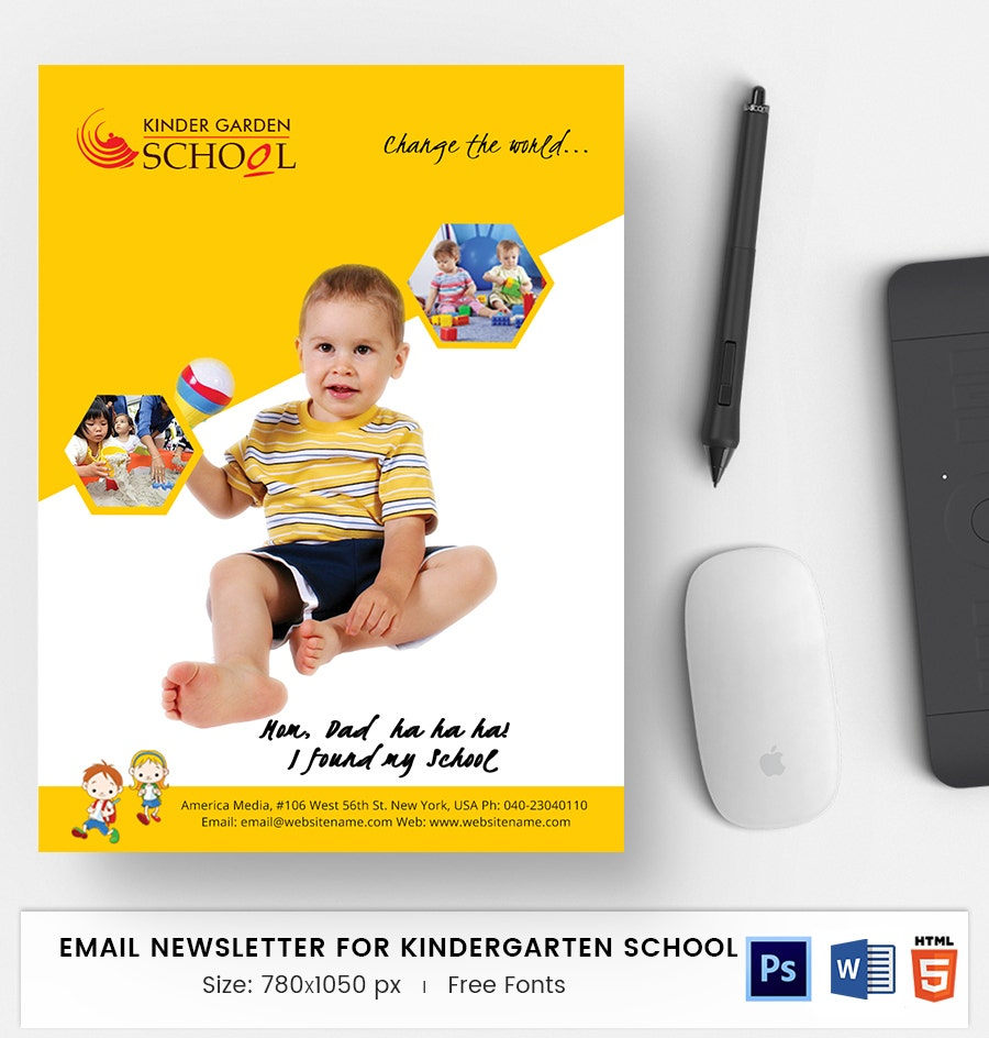Kindergarten School E-Mail Newsletter