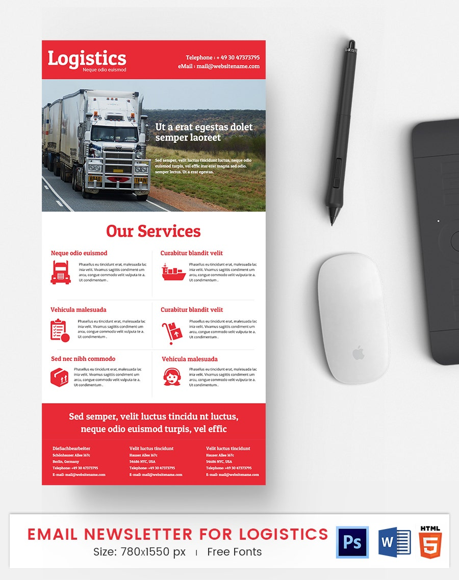 Logistics E-Mail Newsletter
