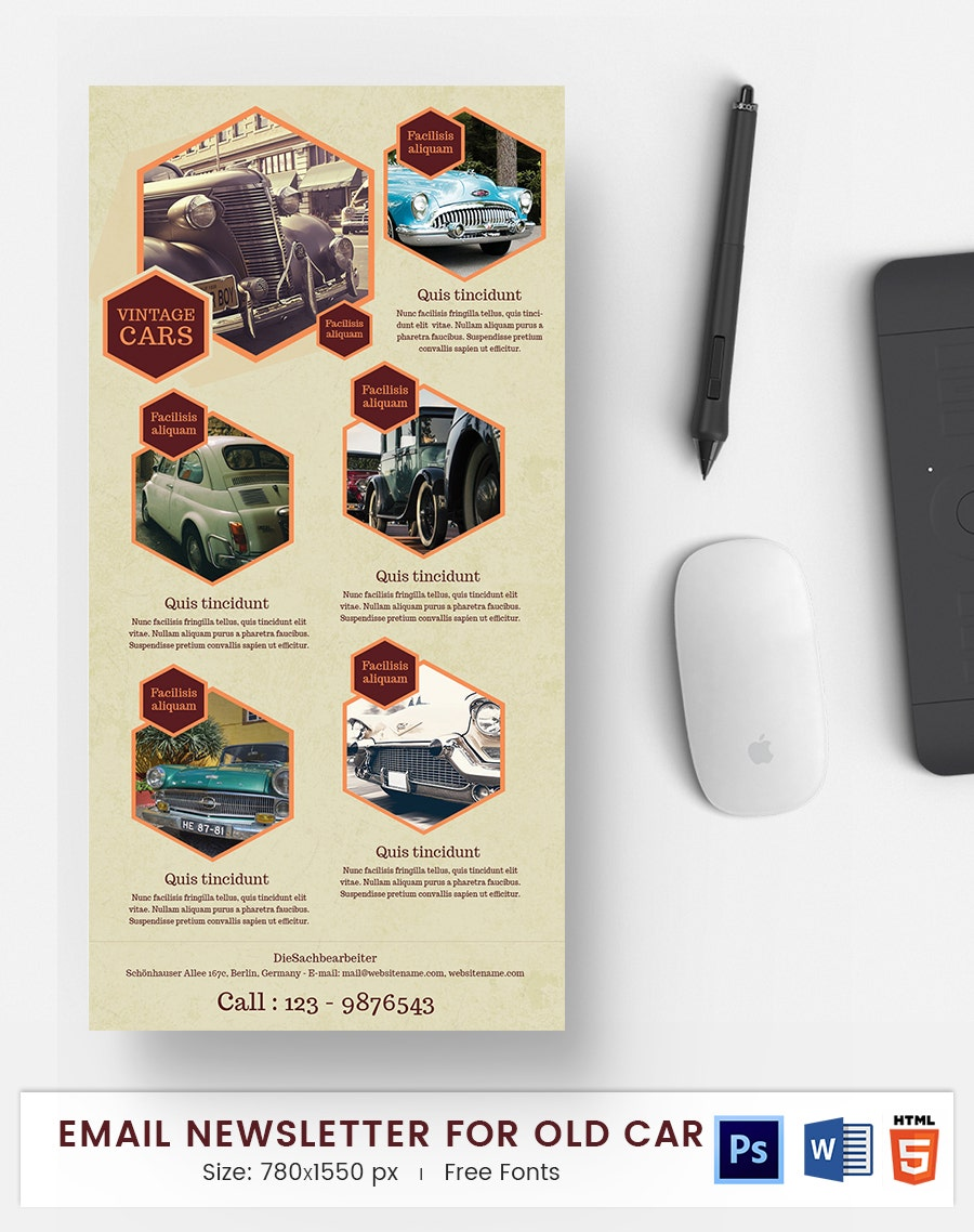 old car e mail newsletter