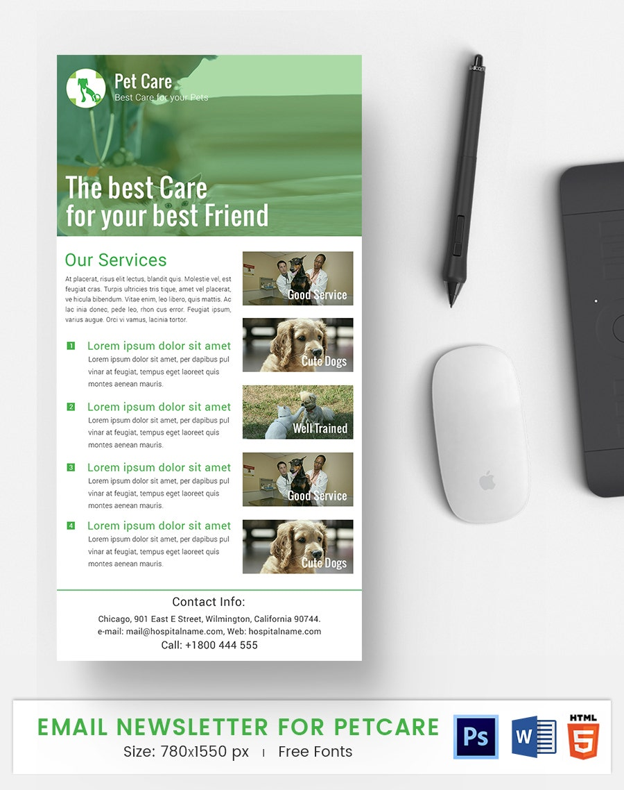 pet care e mail newsletter