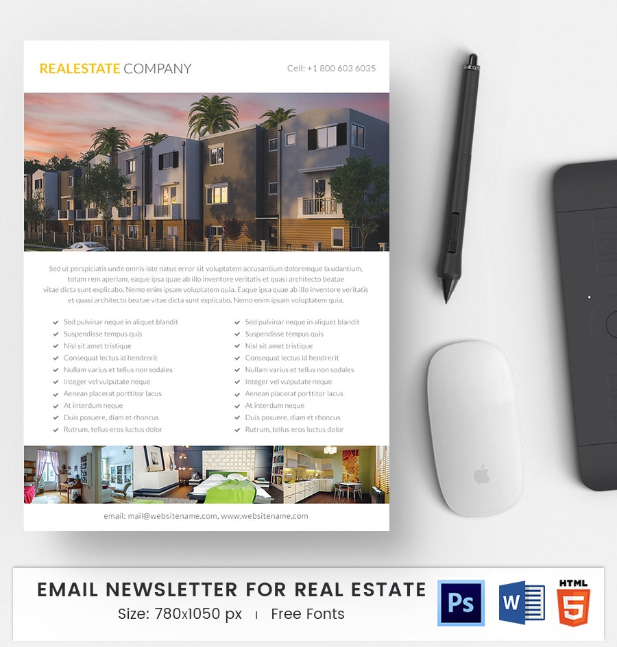 real estate company e mail newsletter