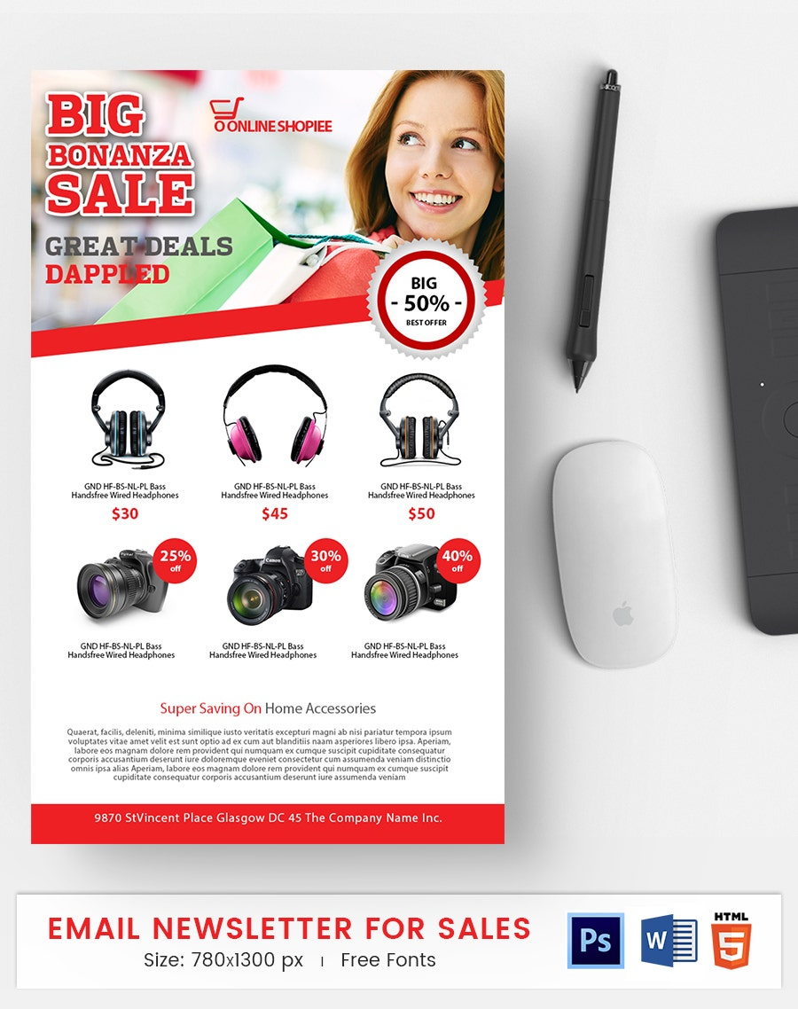 Sales E-Mail Newsletter