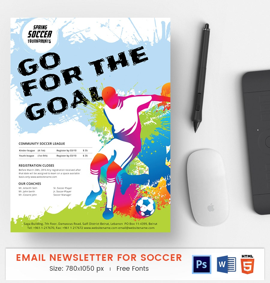 Soccer E-Mail Newsletter