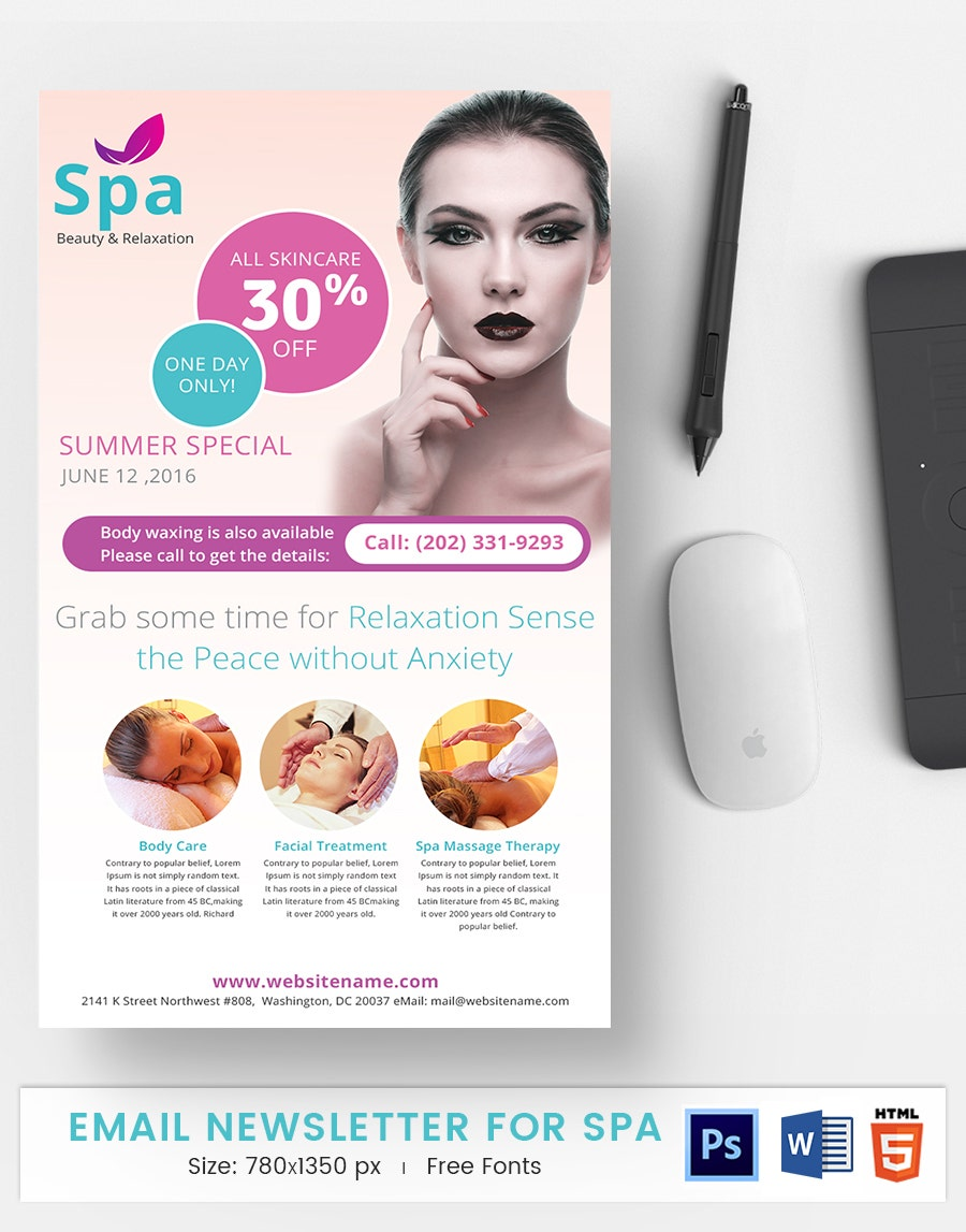 Spa E-Mail Newsletter