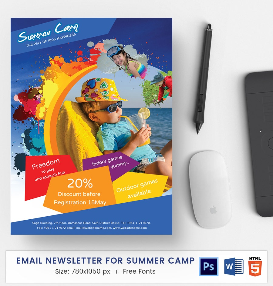 Summer Camp E-Mail Newsletter