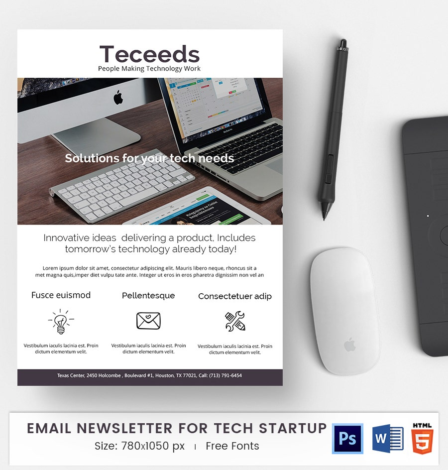 tech start up e mail newsletter