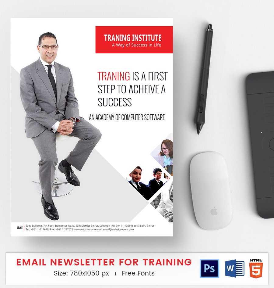 training e mail newsletter