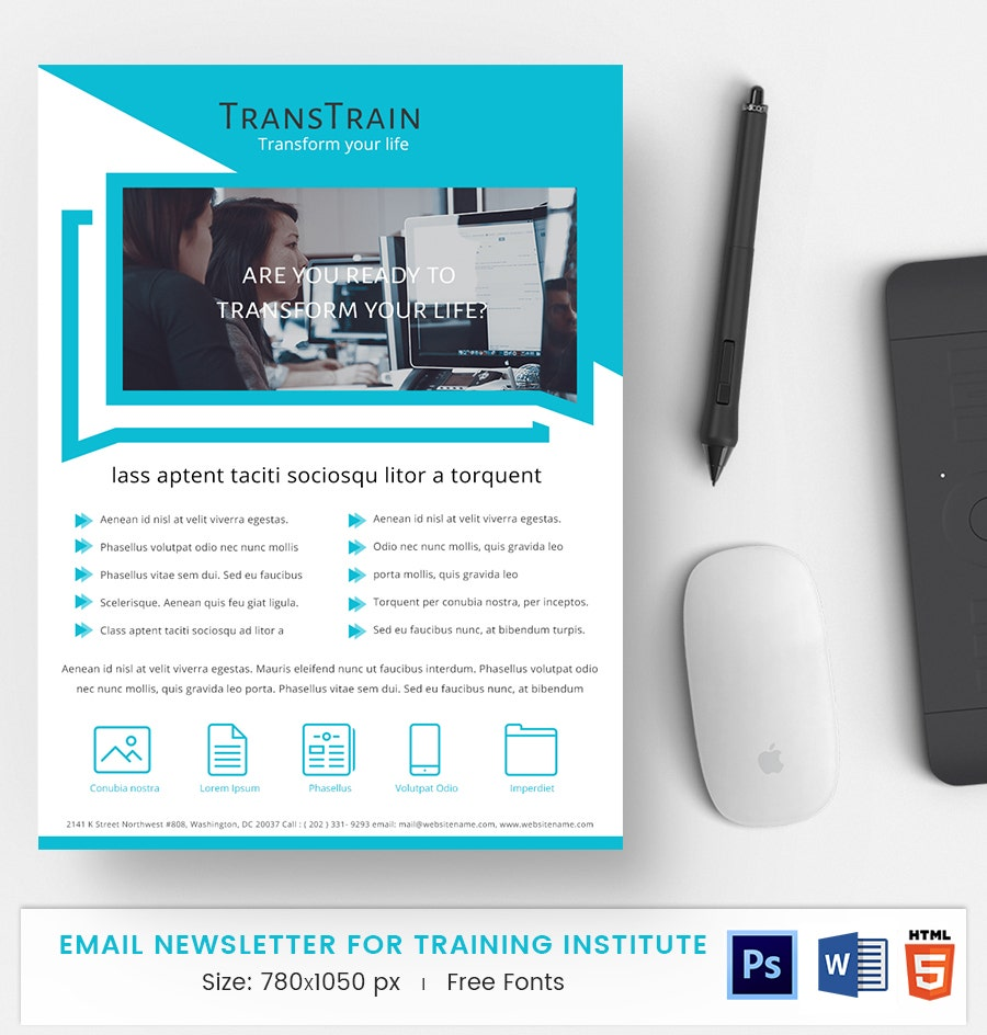 training institute e mail newsletter