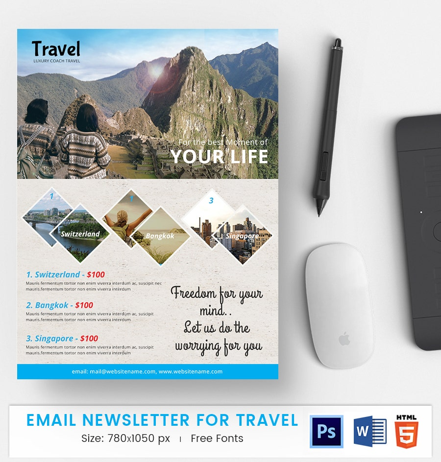 Travel E-Mail Newsletter
