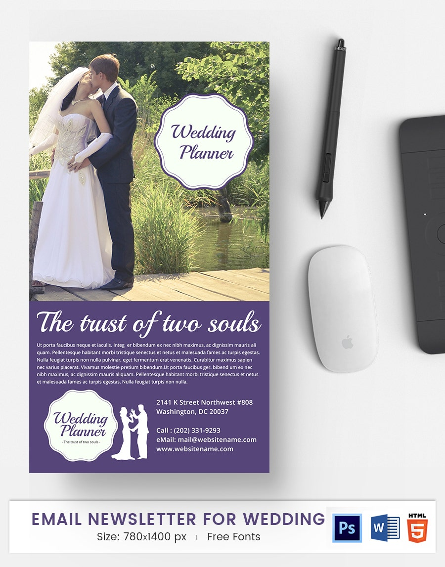 Wedding E-Mail Newsletter