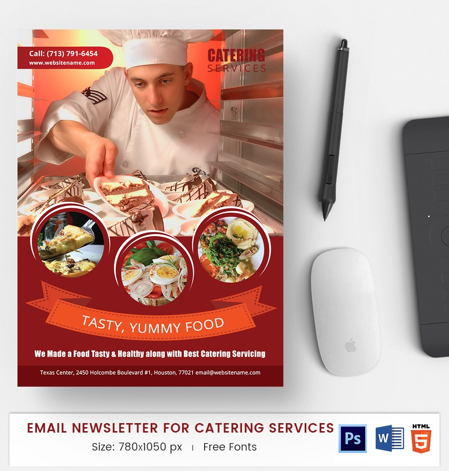 catering services e mail newsletter