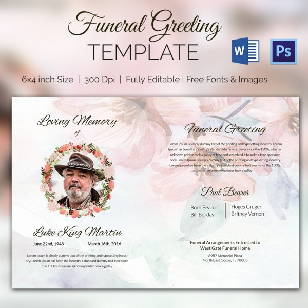 11 funeral card templates free psd ai eps format download funeral announcement greeting card m4hsunfo