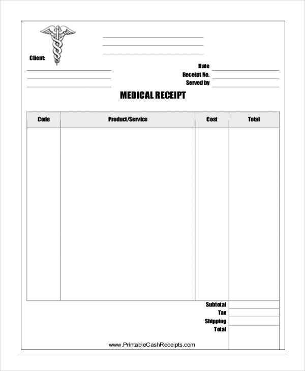 official receipt template