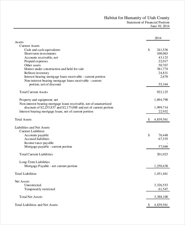 Income Statement Template 8 Free Word Xls PDF Document – Income Statement Sample