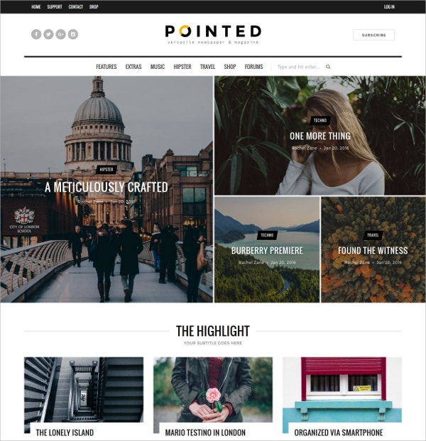 Versatile Blog WordPress News Theme $48