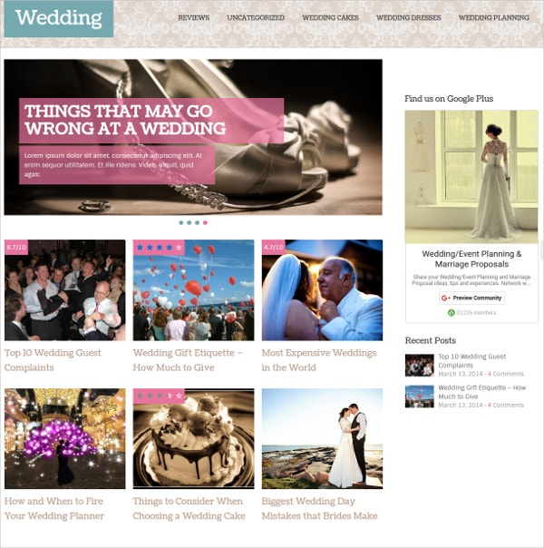 Fully Responsive WordPress Blog Theme $59