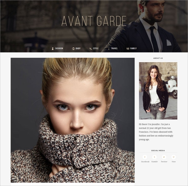 Fashion WordPress Blog Theme $44