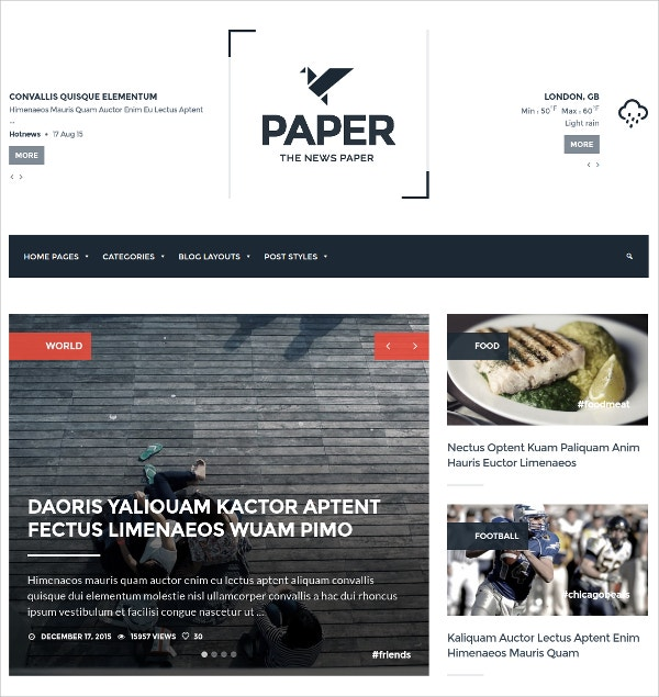 WordPress Blog Magazine Theme $30