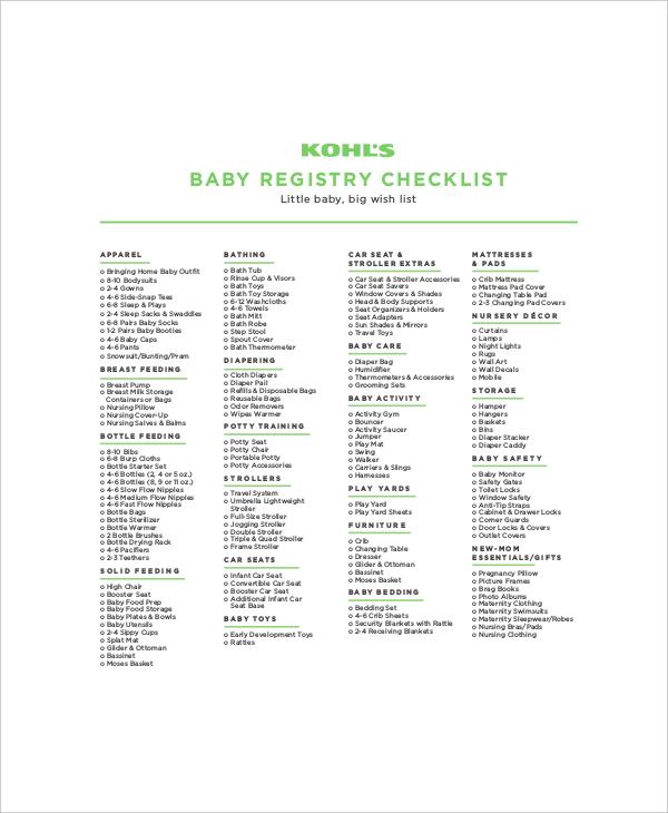 sample kohls first baby registr checklist2