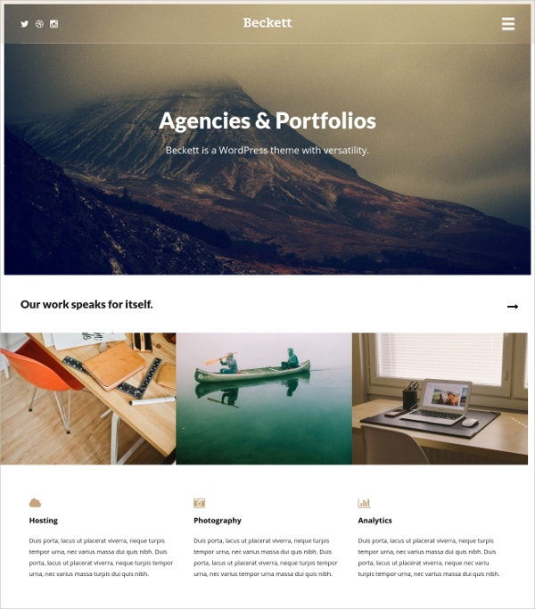 Personal Blog & Portfolio WordPress Theme