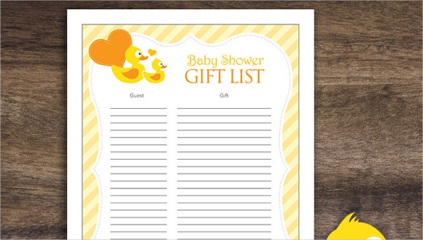 5 Baby Gift Registry Checklists Free Sample Example