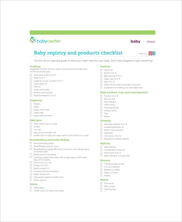 complete baby registry checklist 1