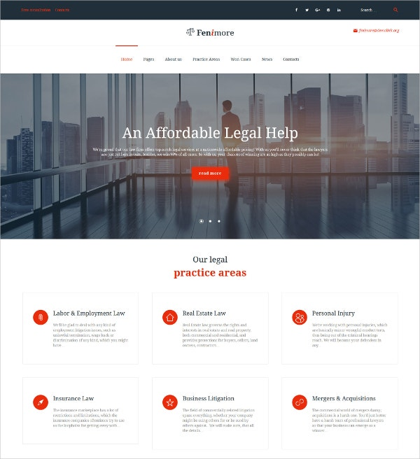 Law Firm WordPress Theme $75