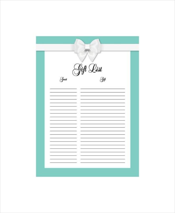 sample blank baby boy registry checklist