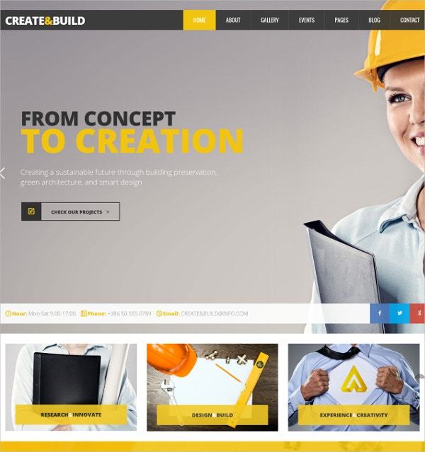Building Architecture WordPress Theme $49
