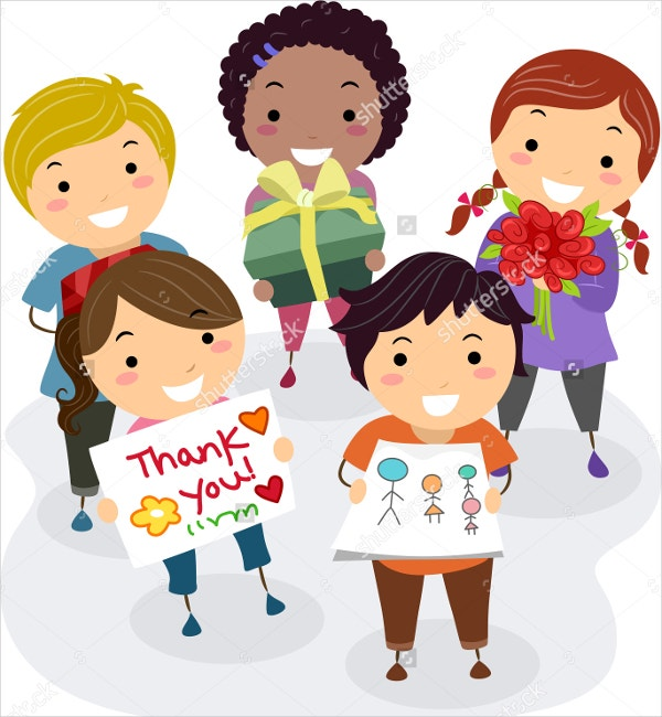 Kids Thank You Card for their Teacher