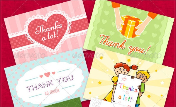 Kids Party Thank You Card