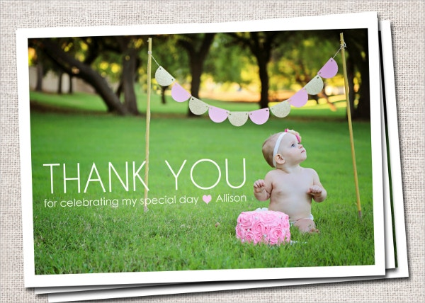 modern kids thank you card