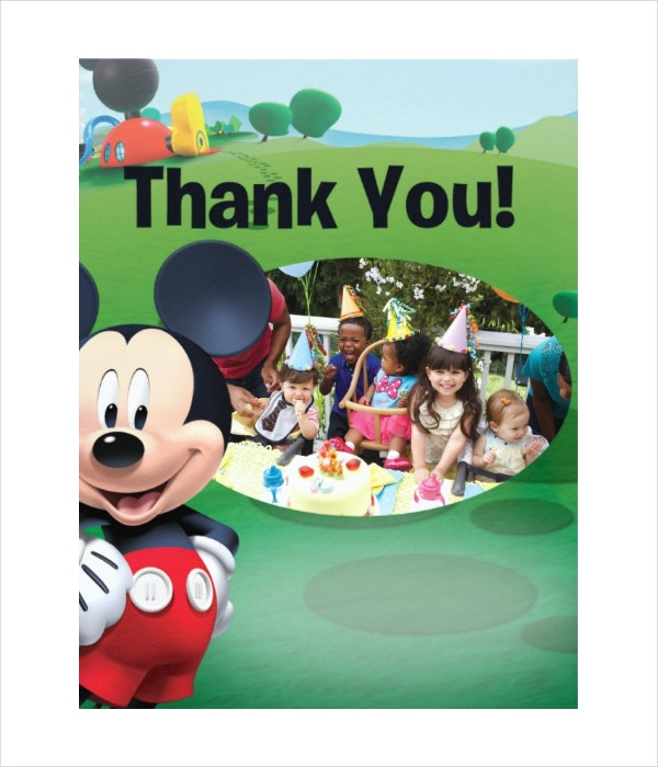 mickey mouse birthday thank you cards