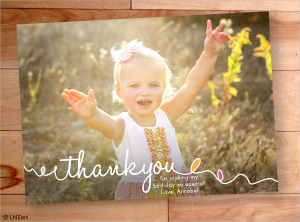 personalized kids thank you card