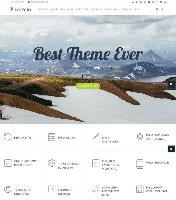 Premium Photography WordPress Theme $56