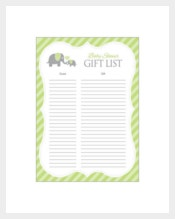 Blank Baby Boy Registry Checklist
