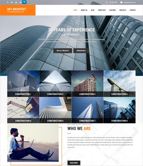 Multipurpose Construction WP Theme $48