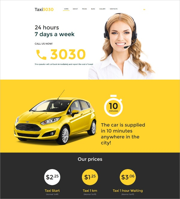 Taxi Car Joomla Template $75