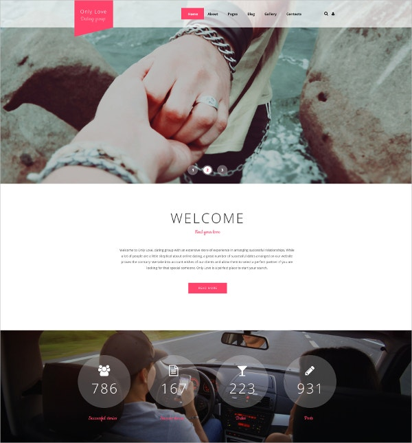 Love Gallery Blog Joomla Template $75