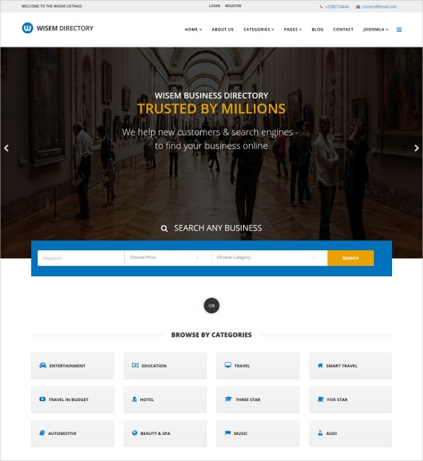 Responsive Hotel Template for Joomla $48