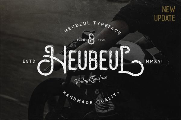 decorative heubeul vintage font