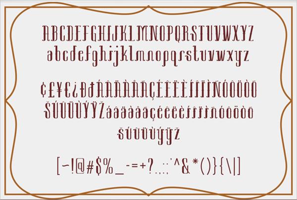 Decorative Sambeltigo Typeface Font