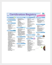 Certification Baby Registry Checklist