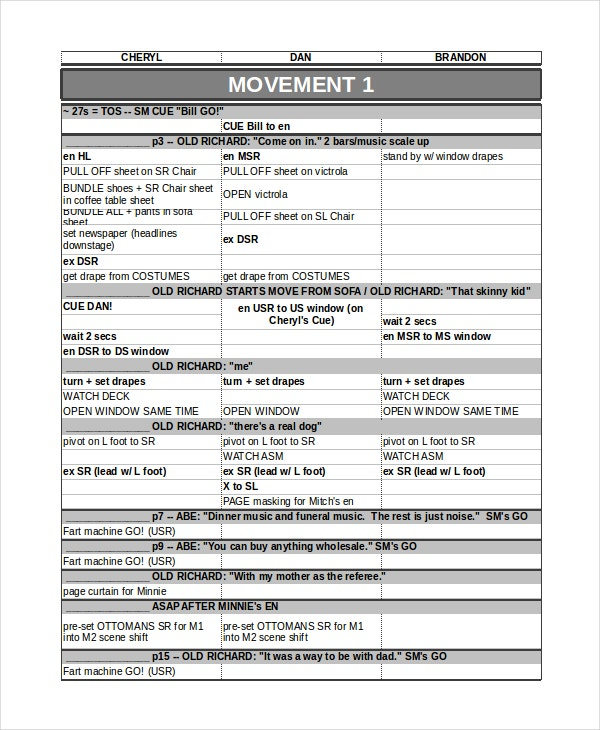 Run Sheet Template - 6+ Free Word, Excel, Pdf Document Download