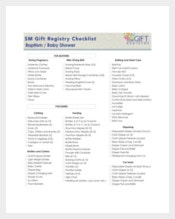 Baby Shower Gift Registry Checklist
