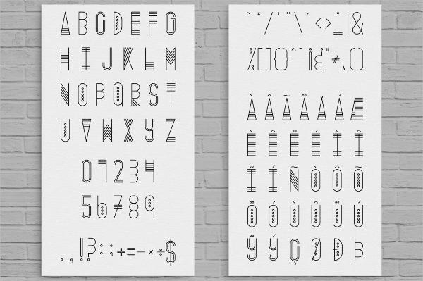 Thin Decorative Font