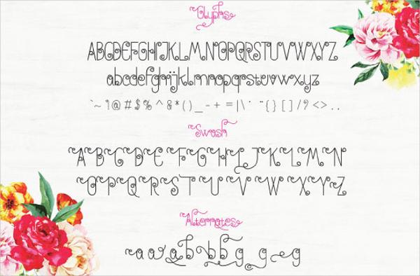 Decorative Anohana Font